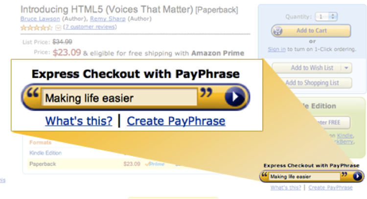 amazon payphrase