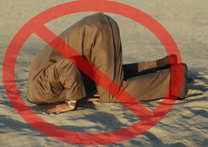 Don't bury your head in sand - no ostrich defense