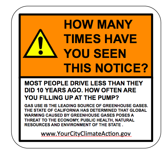 Proposed Gas Pump Sticker
